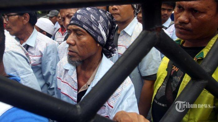 Massa AMT yang Bajak Mobil Tangki Pertamina Geruduk Polres Jakarta Utara