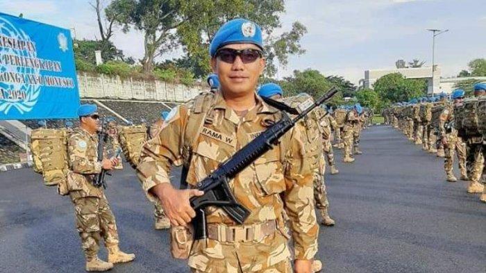 Serma Rama Wahyudi saat berdinas sebagai prajurit TNI-AD