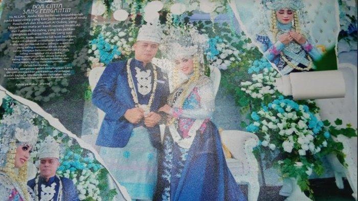 Sertu Ryan Yogie Pratama bersama istrinya Alma Hanaya.