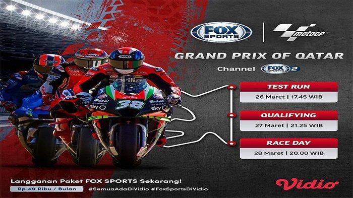 Sesi FP1 dan FP2 MotoGP Qatar 2021, sore Ini, Jumat (26/3/2021) live Fox Sports 2 via Vidio.com
