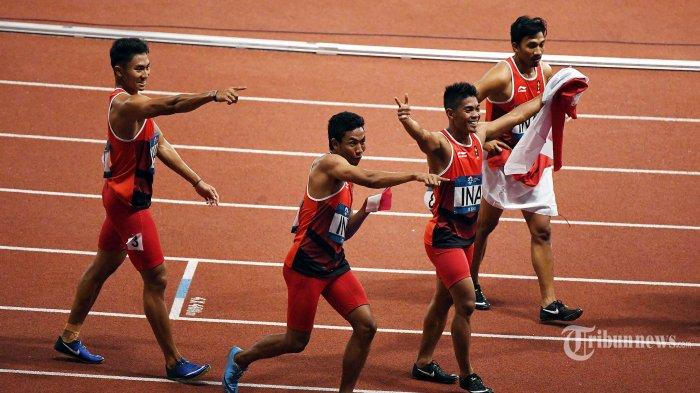 Tim Estafet 4x100 Meter Putra Raih Perak, Lalu Muhammad Zohri: Terima Kasih Masyarakat Indonesia