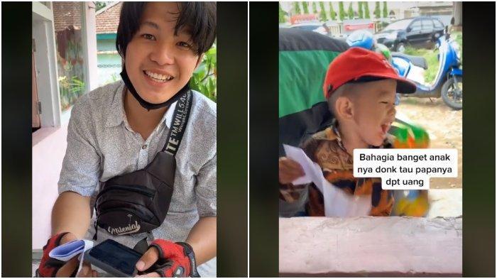 VIRAL Ojol Asal Palembang Terpaksa Bawa Balitanya saat Bekerja, Disebut Ganteng Mirip Oppa Korea