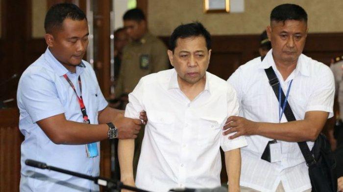 Eksepsi Setya Novanto Siap Dibacakan Rabu Depan