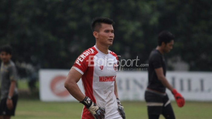 Shahar Ginanjar saat gabung latihan Persija Jakarta di Lapangan Sutasoma, Jakarta Timur, Senin (23/7/2018).