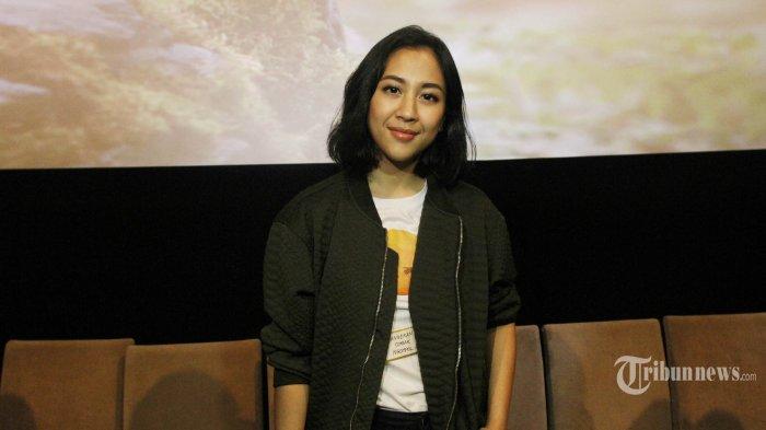 Artis peran Sherina Munaf saat menghadiri peluncuran teaser film Wiro Sableng, di Jakarta, Jumat (11/5/2018). Sherina Munaf yang berperan sebagai Anggini teman dari Wiro Sableng ini, merasa sedikit kesulitan saat beradegan menggunakan jurus pencak silat.. TRIBUNNEWS/HERUDIN