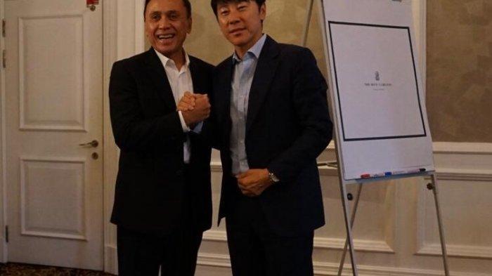 Shin Tae-yong dan Mochamad Iriawan