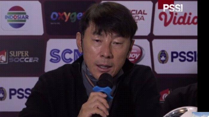 Shin Tae-yong usai pertandingan melawan Bali United