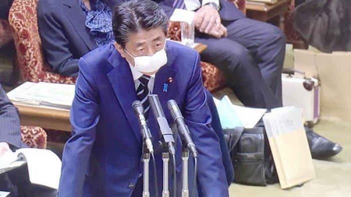 PM Jepang Shinzo Abe di sidang parlemen Jepang