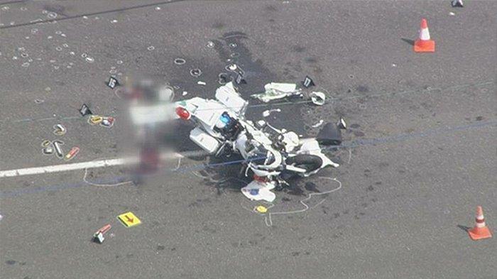 Polisi Jepang Tewas Setelah Motor yang Dikendarainya Tabrakan dengan Truk di Tomakomai Hokkaido