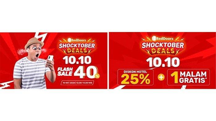 Staycation Anti Bokek Dengan Promo Shocktober 10 10 Dari Reddoorz Tribunnews Com Mobile