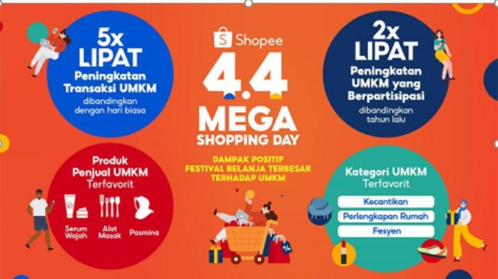 Shopee 4.4 Mega Shopping Day Catat Kenaikan Transaksi UMKM hingga Lima Kali Lipat
