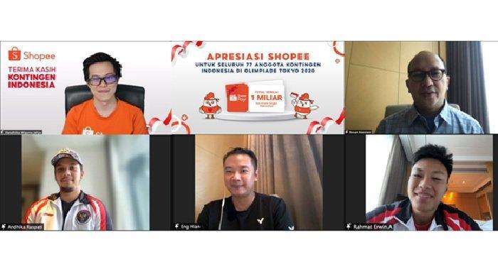 Shopee Berikan Rp 1 M ShopeePay untuk 77 Anggota Kontingen Indonesia di Olimpiade Tokyo 2020