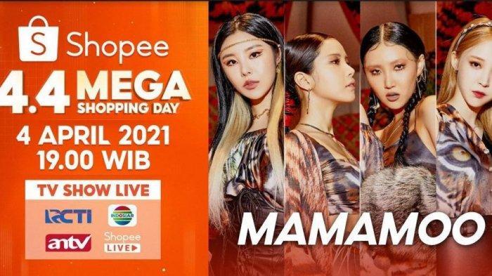 Meriahkan Shopee 4.4 Mega Shopping Day TV Show, Shopee Hadirkan MAMAMOO!