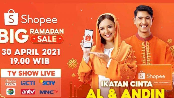 Shopee Big Ramadhan Sale TV Show Hadirkan Pasangan Ikatan Cinta