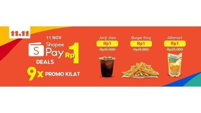 Shopeepay Deals Rp1 Berikan Diskon Besar Di Shopee 11 11 Big Sale Ini Caranya Tribunnews Com Mobile