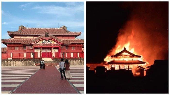 Shuri Kastil di Jepang Kebakaran