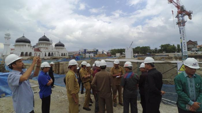 Sidak Proyek Masjid Raya, Anggota DPRA Berang tak Diizinkan Masuk