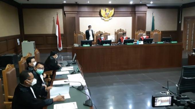Sidang eks Menteri Kelautan Edhy Prabowo di Pengadilan Tipikor Jakarta, Kamis (15/4/2021) dengan agenda pembacaan dakwaan.