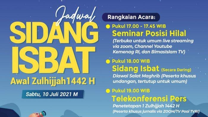 Sidang isbat awal dzulhijjah 1442 H digelar pada hari ini, Sabtu (10/7/2021).