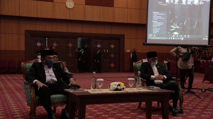 Pelaksanaan sidang isbat yang digelar Kementerian Agama di Gedung Kemenag, Jl. MH. Thamrin No. 6, Jakarta, Selasa (21/07/2020).