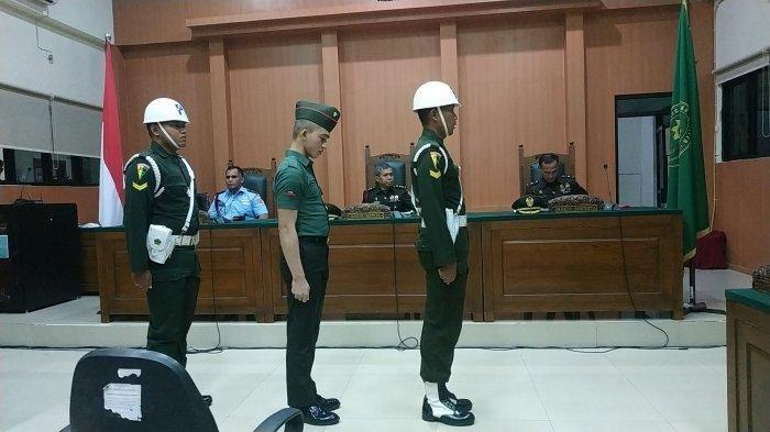 Sidang Prada DP di pengadilan militer I-04 Jakabaring Palembang, Kamis (8/8/2019). TRIBUNSUMSEL.COM/SHINTA DWI ANGGRAINI