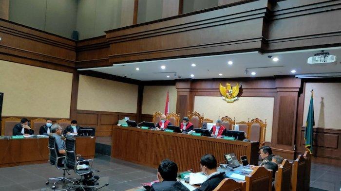 Pengadilan Tipikor Jakarta menggelar sidang lanjutan perkara suap penghapusan red notice Interpol Djoko Tjandra, dengan terdakwa eks Kepala Divisi Hubungan Internasional (Kadiv Hubinter) Polri Irjen Napoleon Bonaparte, pada Senin (1/2/2021).