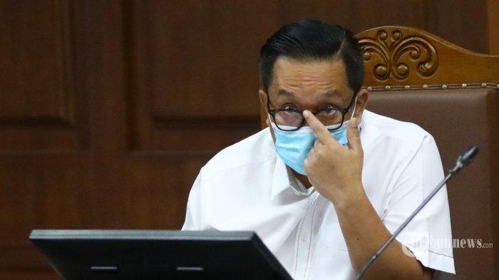 Terdakwa kasus dugaan suap penghapusan red notice Djoko Tjandra, Brigjen Pol Prasetijo Utomo menjalani sidang lanjutan di Pengadilan Tipikor, Jakarta Pusat, Senin (9/11/2020). Sidang tersebut beragendakan pemeriksaan saksi dari pihak Jaksa Penuntut Umum. Tribunnews/Irwan Rismawan