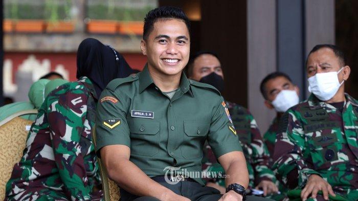 Mantan atlet voli putri dan juga anggota TNI Angkatan Darat Serda (K) Aprilio Perkasa Manganang.