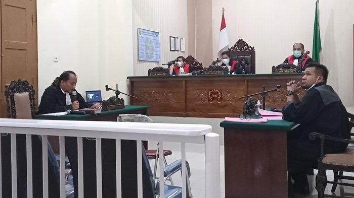 Bawa 27 Gram Sabu, Aipda Indra Mengaku Untuk Pesta Bersama Oknum Lain, Kini Dituntut Penjara 7 Tahun