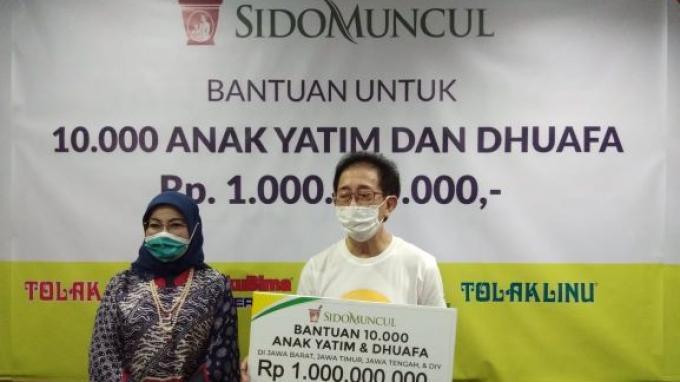 Sido Muncul Salurkan Bantuan Senilai Rp 1 Miliar Kepada 10.000 Anak Yatim dan Dhuafa