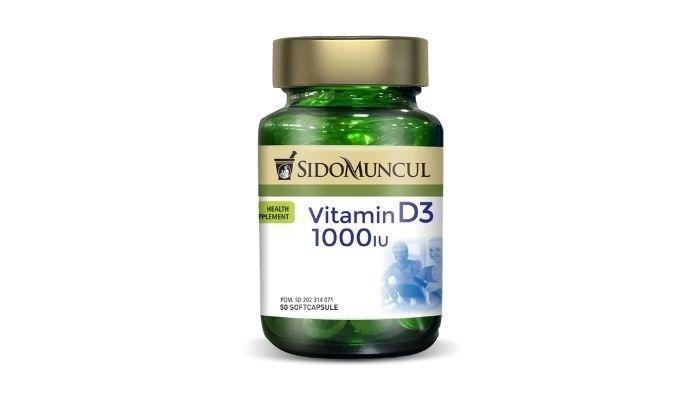 Sido Muncul Vitamin D3 1000 IU.