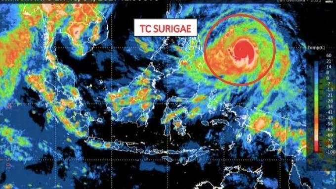 Intensitas Siklon Tropis Surigae Meningkat, Ini 9 Wilayah yang Berpotensi Hujan Lebat