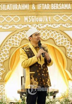 Ustaz Sholeh Mahmoed Nasution atau yang dikenal sebagai Ustaz Solmed hadiri bukber Ramadan Penuh Berkah Silahturahmi dan Iftar MS Glow JKT.