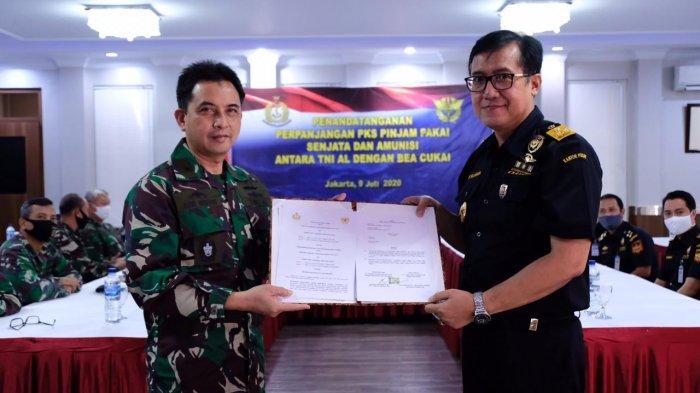Sinergi Bea Cukai dan TNI AL Perkuat Penegakkan Hukum di Laut