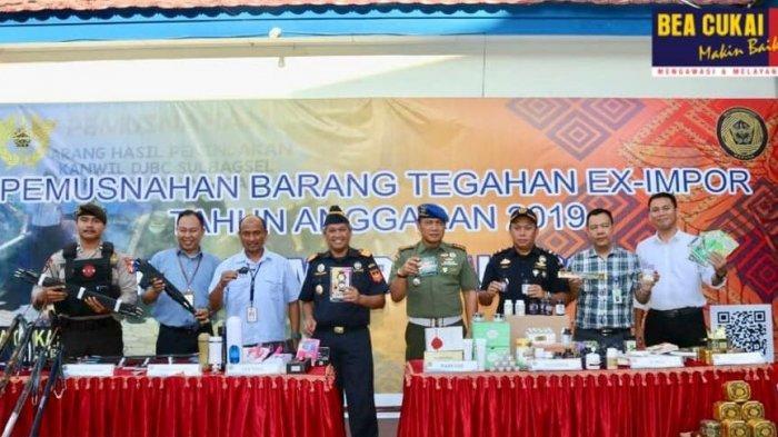 Sinergi Bea Cukai Makassar Dalam Musnahkan Barang Ilegal