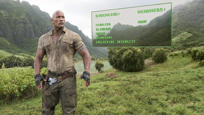 Dwayne Johnson dalam film Jumanji: Welcome to the Jungle (2017)
