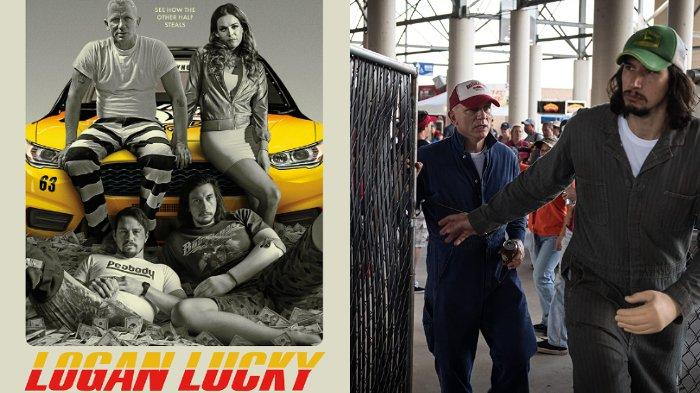 Sinopsis Film Logan Lucky, Aksi Channing Tatum dan Adam Driver Merampok di Charlotte Motor Speedway
