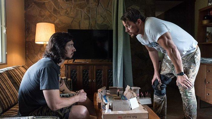 Channing Tatum dan Adam Driver di Logan Lucky (2017)