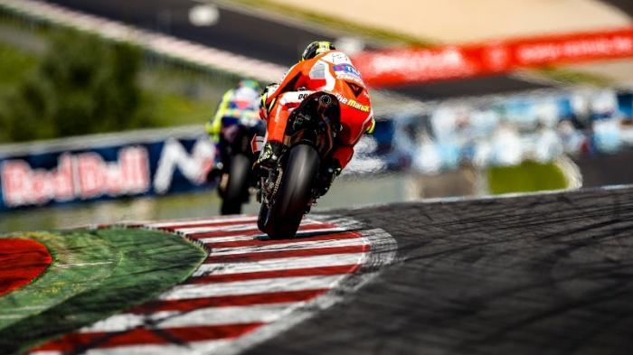 Sirkuit Red Bull Ring Spielberg, Styria, Austria saat berlangsung sesi ujicoba oleh pebalap MotoGP.