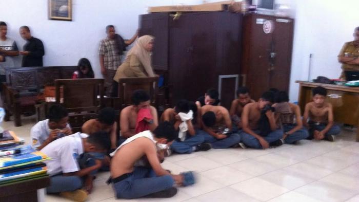 12 Siswa SMA Tertangkap di Belakang Sekolah Diduga Pesta Sabu