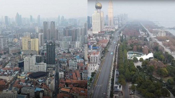 SCMP merekam situasi Kota Wuhan pada Selasa (28/1/2020). Video tersebut diambil dari udara.