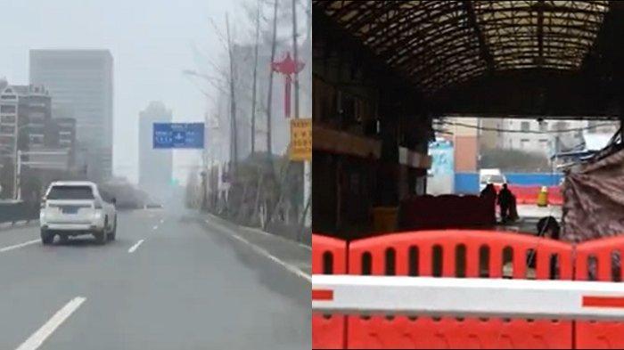 Situasi kota Wuhan ditutup setelah Virus Corona melanda. Seperti kota mati hingga perjalanan dibatasi.