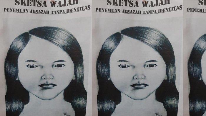 Sketsa Wajah Wanita Hamil Ditemukan Tewas di Pinggir Tol Jagorawi Disebar