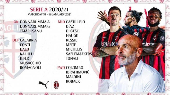 DAFTAR SKUAT AC Milan Lawan Cagliari: Ada Meite, Zlatan Ibrahimovic & Striker 17 Tahun
