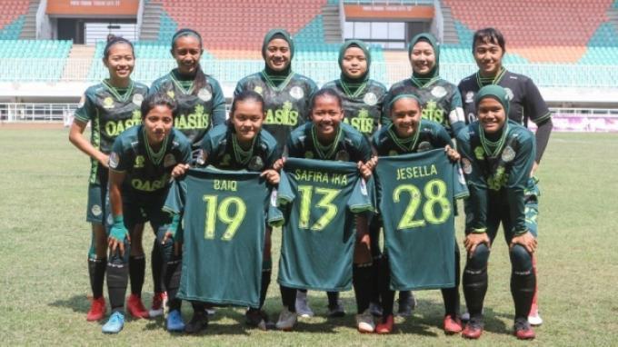 Skuat PS Tira Putri yang mengarungi kompetisi Liga 1 putri 2019.