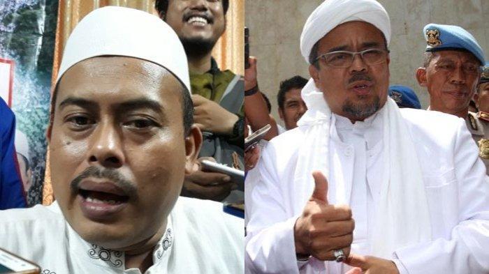 Kolase foto Slamet Maarif dan Habib Rizieq Shihab.