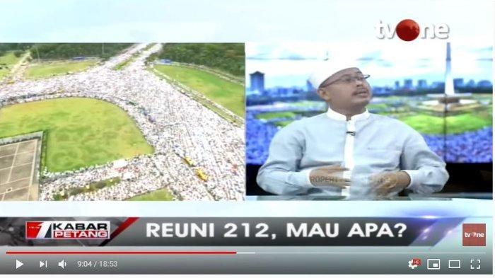 Ketua Persaudaraan Alumni 212 Slamet Maarif (Tangkap Layar tvOneNews).