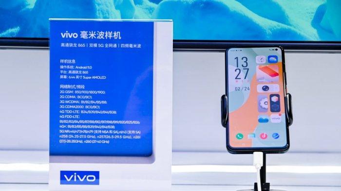 Smartphone 5G Vivo dipamerkan di MWCS 2021.