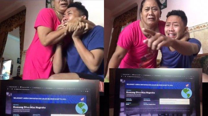 VIRAL Video Haru Pemuda saat Tahu Lolos SNMPTN 2021, Akhirnya Diterima di PTN dan Jurusan Impian