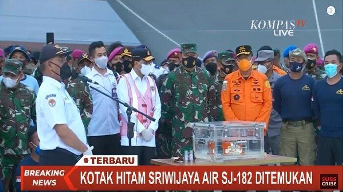 Menhub dan Ketua KNKT akan Umumkan Penemuan CVR Pesawat Sriwijaya Air SJ 182 Siang Ini